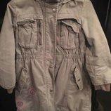 Куртка парка утепленная для девочки