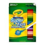 Crayola Фломастеры 20 шт. смываемые Washable Super Tip Markers
