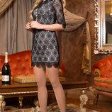 Оригинальное платье из дорогого итальянского кружева 748