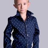 Детская Рубашка KIDS Пуговицы Ромбики