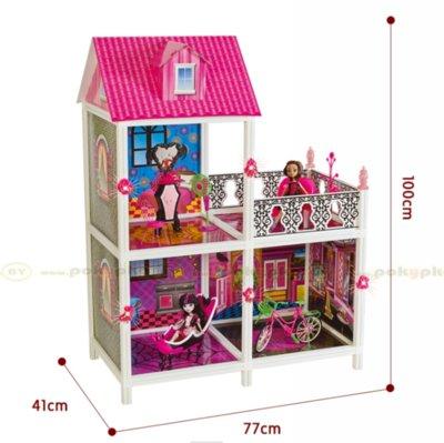 Кукольный домик Монстр Хай Monster High 66901 3 комнаты балкон, 100 см