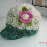 Кепка шапка на флисе шерсть100%