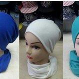 Набор «Шапка и шарф» двойной трикотаж