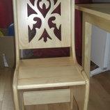 Супер красивенный детский стульчик и столик из натур дерево ольха сосна