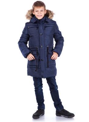 Зимняя удлиненная теплая куртка для мальчиков Ричард , 128 см.