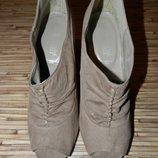 Классные стильные туфли с открытым носком New Look 40 размер.
