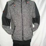 Кофта мужская,молодёжная ENOS на длиной молнии с капюшоном,утеплённая M,L,XL, 2XL