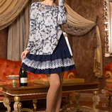 Оригинальное платье стильного серого цвета 743