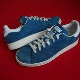 Кроссовки Adidas Stan Smith оригинал натур замша 41-42 размер
