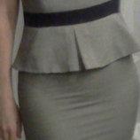 Платье с баской.