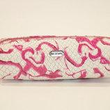 Чехол для ключей ключница на змейке бело/розовая Desisan 207 Турция