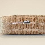 Чехол для ключей кожаный ключница на змейке бежевая Desisan 207 Турция