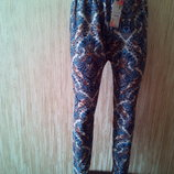Зимние Лосины, брюки на меху индийский узор р. 50-56