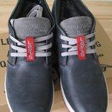 Зима Супер Levis стильные теплые мужские ботинки кожа Левис