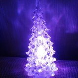 Разноцветная светящаяся елочка с мерцанием новогоднее игрушка Новый год елка подарок дом интерьер