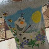 футболка Некст холодное сердце 6-7лет 122 рост