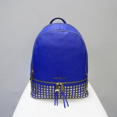 Кожаный рюкзак с заклёпками Michael Kors electric blue оригинал