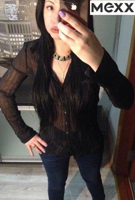 Черная блуза рубашка Mexx,р.42