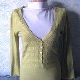 Женская кофточка теплая зеленая