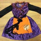 Карнавальное нарядное платье Ночи ведьмы Колдуньи на 9-10 лет