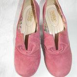 Женские замшевые туфли hotter р.37 дл.ст 24см