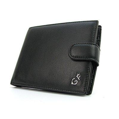 Кошелек кожаный мужской на кнопке черный GF Ferre 63
