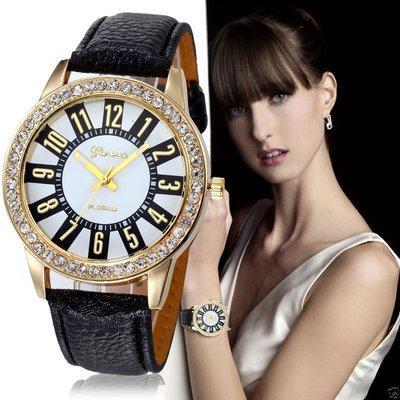 Элегантные часы Geneva черного цвета