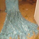 Шикарный сарафан-платье в пол. Ткань расшитая бисером и паетками. Новое Подойдет отМ до-46-48