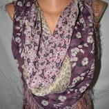 Вискозный платок с принтом