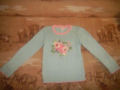 свитер теплый с шерстью для девочки