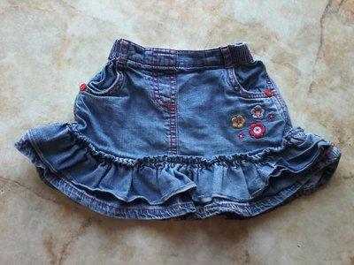 Юбка джинсовая на девочку фирмы George возраст 9-12 мес