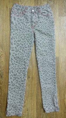 Оригинальные узкие джинсы для девочки, р.146