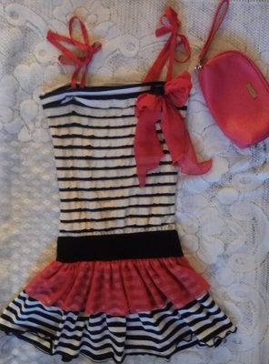 Красивое, платье-сарафан с гипюровой спинкой