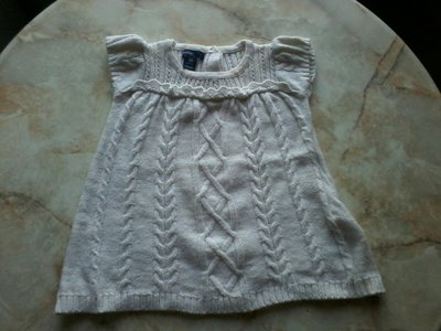 Платье тёплое на девочку фирмы Baby Gap возраст от 3-6 мес