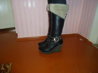 Сапоги кожаные 39р
