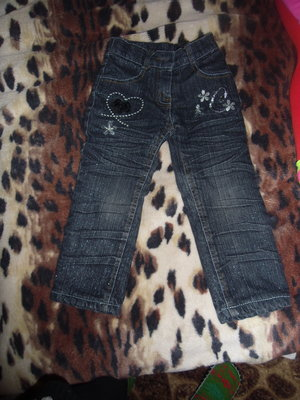 Теплые джинсы на флисе на 1, 5 - 2 года