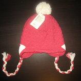 Детская теплая двойная ангоровая шапка - 3 цвета