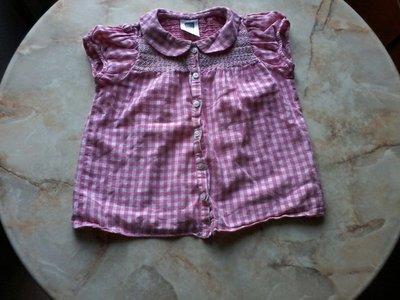 Рубашка на девочку фирмы M&Co возраст 2-3 года размер 98