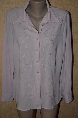 Элегантная розовая блуза с вышивкой