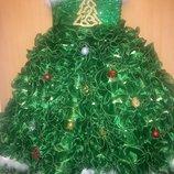 Эксклюзивное карнавальное платье елочки костюм елочки прокат
