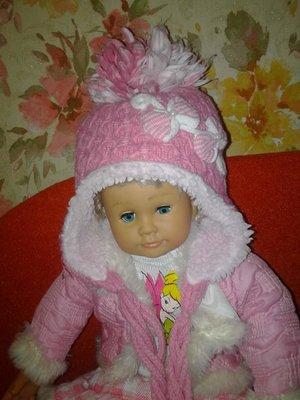 Зимняя теплая шапка на 2-3 года