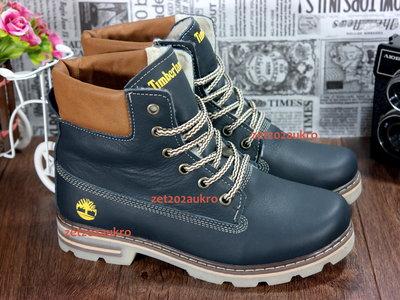 Кожаные женские зимние ботинки стиль Timberland, теплый мех, толстая подошва, мод Т1