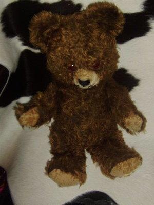 шикарный винтажный старенький Мишка Медведь мохер солома из Англии 40 см
