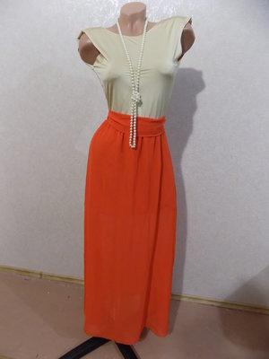 Платье длинное в пол нарядное шифоновое размер 44-46