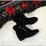 Женские стильные зимние ботинки замшевые