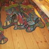 Япкая, лёгкая полупрозрачная блуза накидка с кружевом и патками. XS-S.42-44.