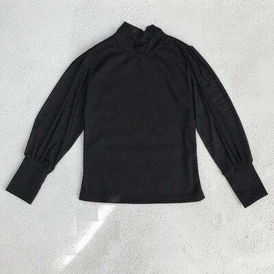 Стильная блуза для девочки Black рукав сетка