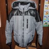 куртка деми с капюшоном на синтапоне 8-10 лет