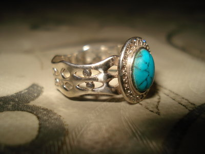 Кольцо серебро бирюза