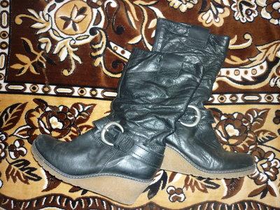 Продам кожаные деми сапожки в отличнейшем состоянии осенние, осень, кожа, сапоги, полусапожки